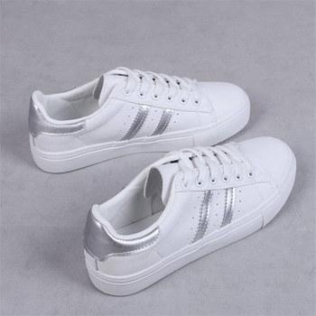 Kobiety obuwie damskie Casual kobiety Sneakers mieszkania dziewczyna oddychające buty wulkanizowane zasznurować białe buty Zapatos De Mujer tanie i dobre opinie Grapara CN (pochodzenie) inny Płytkie Stałe RUBBER Na wiosnę jesień Niska (1 cm-3 cm) Sznurowane Pasuje na mniejsze stopy niezwykle Proszę sprawdzić informacje o rozmiarach ze sklepu