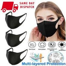 3pcs Unisex PM2.5 Mouth Mask Anti Haze Dust Mask Nose Filter Windproof Face Muffle Bacteria Flu Fabric Cloth Respirator health