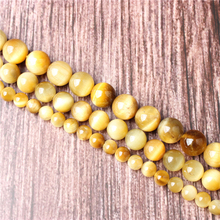 Hot Sale Natural Stone Golden Tiger Eye Beads 15.5 Pick Size: 4 6 8 10 mm fit Diy Charms Beads Jewelry Making Accessories