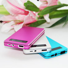 New Style Ultra-Thin Card Power Bank 6000 MAh 5V Smart-Touch Screen Mobile Phone Power Bank Customizable Gift(China)