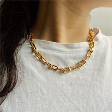 High Quality U Shape Punk Chain Necklace For Women 2020 New Design Gold Color Thick Chain Charm Necklaces Statement Jewelry