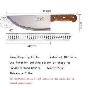 Image 2 - 8 zoll Professionelle Edelstahl Chinesische Messer Fleisch Cleaver Metzger Hacken Messer Küche Koch Messer
