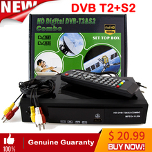 HD Digital Satellite tv receiver DVB T2+S2 TV Tuner Receivable MPEG4 DVB-T2 TV Receiver T2 Tuner DVB H.264 Terrestrial receiver цена