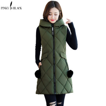 PinkyIsBlack 2020 Autumn And Winter Women Vests Waistcoat New Student Cotton Vest Womens Coats Clothing