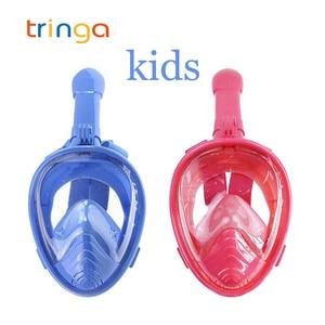 Children Snorkel Diving Mask for kids Swimming Training Full Face Mask Scuba Equipment mergulho For Gopro Free Breath Gear Tube(China)