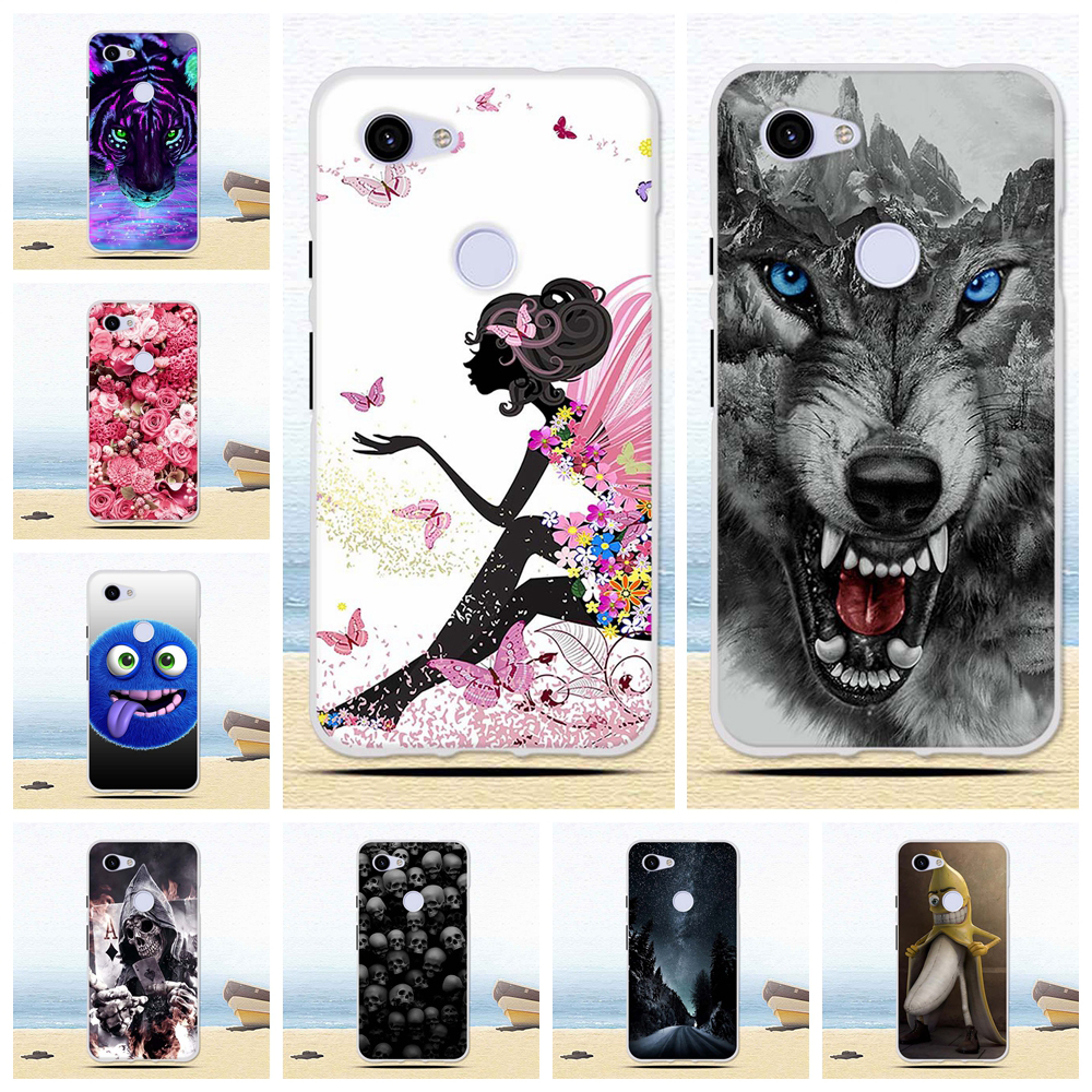 For Google Pixel 3A XL Soft TPU Silicone Case Print Cute Funny Cover Coque Shell Phone Cases For Google Pixel 3A