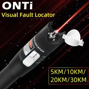 Image 2 - ONTi 10mW Visual Fault Locator Fiber Optic Cable Tester 30mw Red Laser Light 5 30KM Pen Type Visual Fault Locator SC/FC/ST
