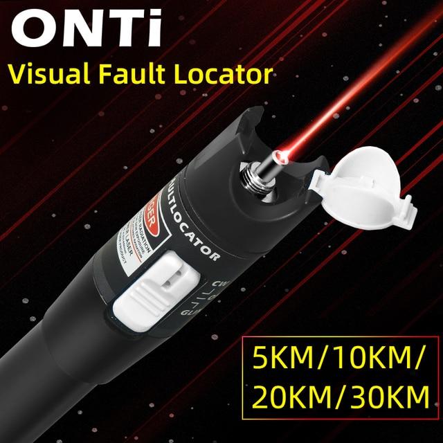 Onti 10Mw Visual Fault Locator Fiber Optic Cable Tester 30Mw Rode Laser Licht 5 30Km Pen type Visual Fault Locator Sc/Fc/St