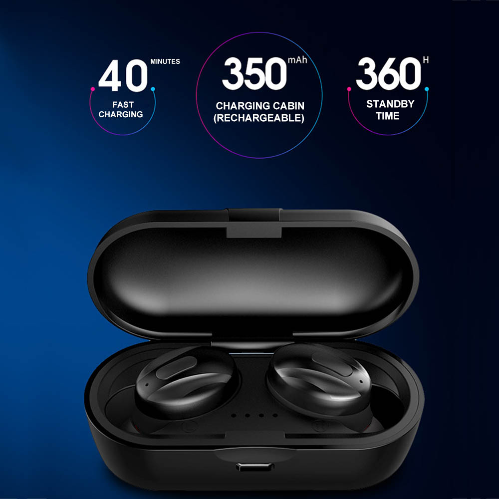 TWS BT Earbuds True Wireless Headphones with Mic Bluetooth 5.0 Earphones Twins Sports Headset Noise Reduction With Charging Box