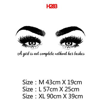 Beauty Salon Eye Lashes Live Love Wall Sticker Home Decoration Eyes Quotes Wallpaper Waterproof Wall Decoration Murals Decal 17
