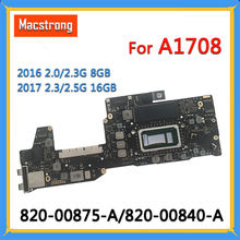 Logic-Board Macbook A1708 820-00875-A for Pro 13-I7 8GB/16GB I5 Tested