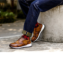 Brand Sneakers Men's 2020 Fashion Trainers Genuine Leather Casual Shoes