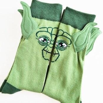 Disney Star Wars Master Yoda Baby Figure Cotton Socks Mandalorian The Rise of Skywalker Cosplay Men Women Gift Ears Funning Sock
