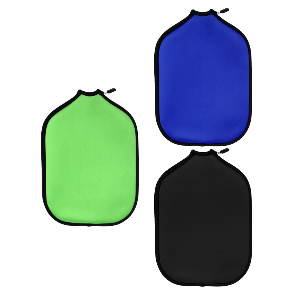 3pcs Portable Neoprene Pickleball Paddle / Racket Cover Case Holder Sleeve Lightweight Durable