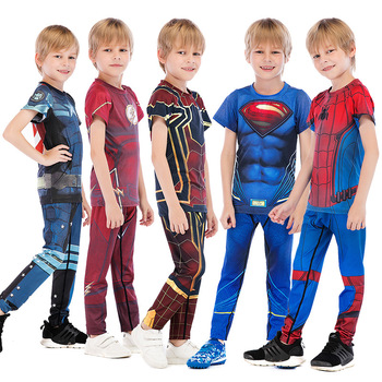 Children boy T shirt Compression Shirt New Batman 3D Printed T shirts Men Raglan Short Sleeve Superhero Fitness Tops CODY LUNDIN 1