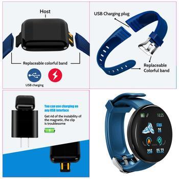 D18S Smart Watch Man Women Fitness Blood Pressure Heart Rate Monitor Pedometer Fashion Watches Sports Waterproof SmartWatch 2