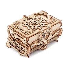 3d montado criativo diy puzzle transmissão mecânica de madeira antigo caixa de jóias modelo brinquedo adulto presente das crianças