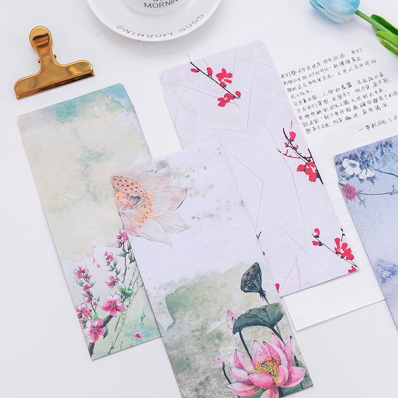Closeout Beautiful Chinese-style Old Traditional Envelope Romantic Love Letter Kraft Envelope Vintage Verticle Envelope