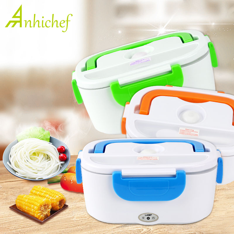 Electric Heating Lunch Box Portable Kids Food Container Food-Grade Thermos Lunch Box Bento Box With Dinnerware For Home Office image