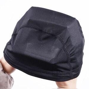 Image 5 - 24 pcs Glueless שיער פאת נטו אוניית זול פאת כובעים להכנת פאות ספנדקס נטו אלסטי כיפת פאת כובע