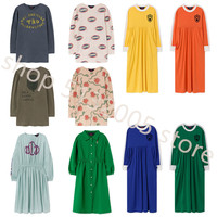 2019 Autumn and Winter New TAO BOBO KIDS Fashion Small Children's Clothing Cotton Round Neck Long sleeved Girls Dress