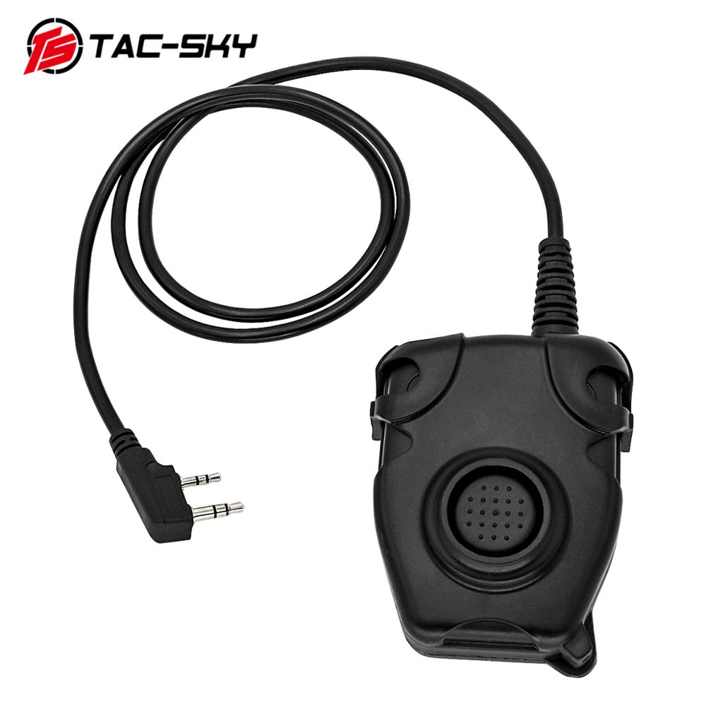 TAC-SKY PTT PELTOR Tactical PTT Peltor Ptt Tactical Headset K Plug Adapter Air Gun Radio Military Headset Walkie-talkie Ptt