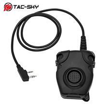 TAC-SKY PTT PELTOR tactical peltor ptt headset K plug adapter air gun radio military walkie-talkie