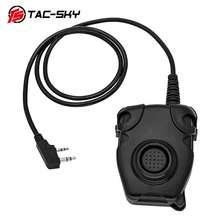 TAC-SKY PTT PELTOR tactical PTT peltor ptt tactical headset K plug adapter air gun radio military headset walkie-talkie ptt
