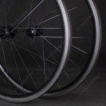Aero ruedas de bicicleta de alta calidad, llanta completa de 32mm para bicicleta de carreras, con hoyuelos, sin tubo, envío gratis, 700C