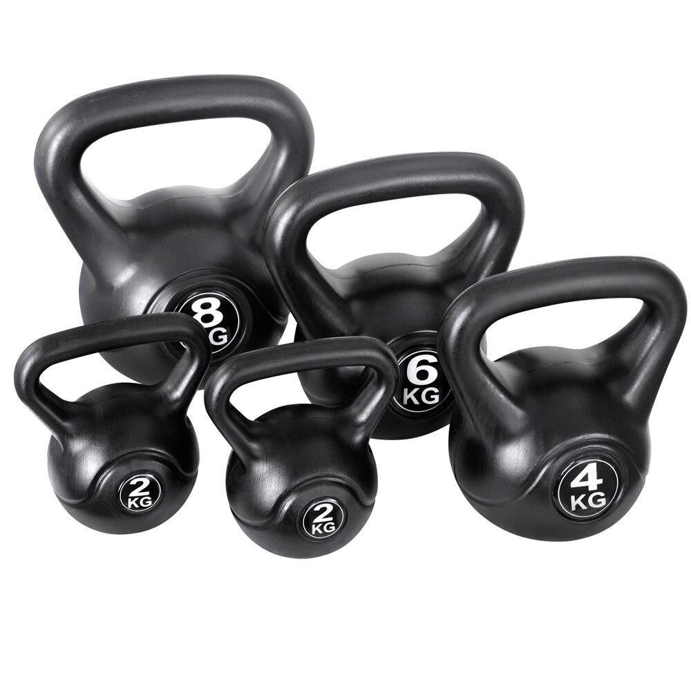 Everfit Set Of 5 Kettle Bell Set 2kg 4kg 6kg 8kg Anti-Slip Grips Design Kettle Bell Weight Set Suitable For Men Women AU