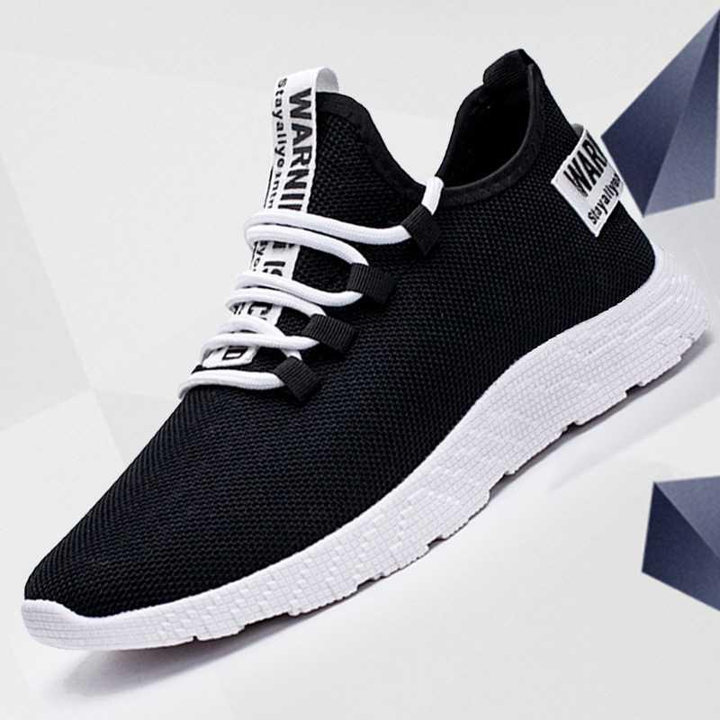 WENYUJH รองเท้าผ้าใบ Tenis Masculino Breathable ลำลองลื่น Vulcanize ชายรองเท้า Air Mesh Lace Up สวมใส่รองเท้า 39-47
