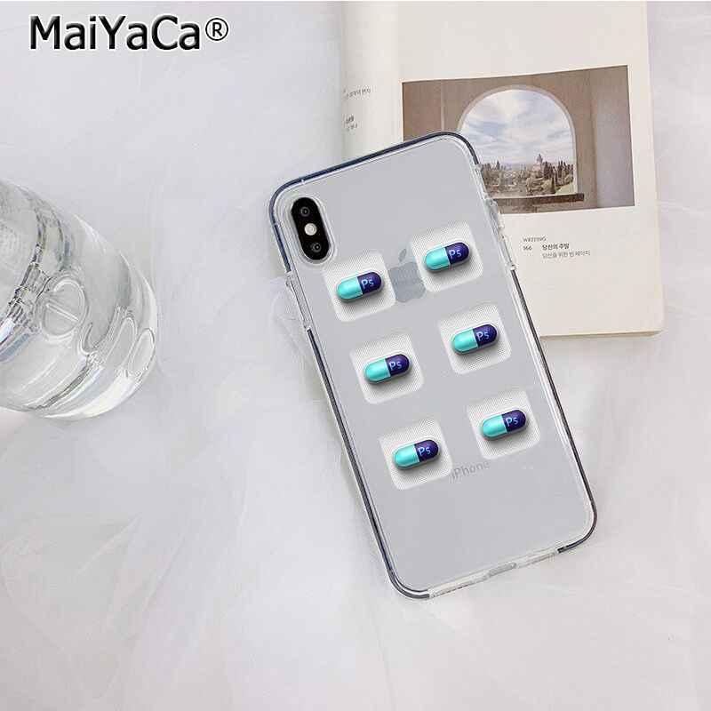 Maiyaca Transparan Medis Obat Pil Kapsul Baru Tiba Ponsel Case untuk Apple iPhone 11 Pro 8 7 66S Plus X XS Max 5S SE XR