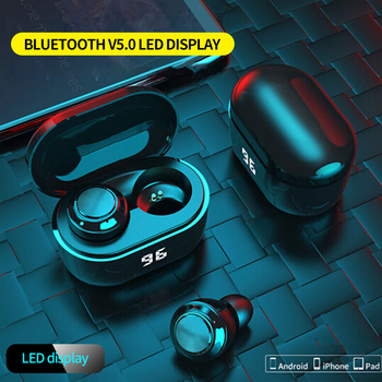 True Wireless Bluetooth Earphones Mini TWS Bluetooth 5.0 In-Ear Wireless Bluetooth Earphones for Business Sports Earbuds Gaming