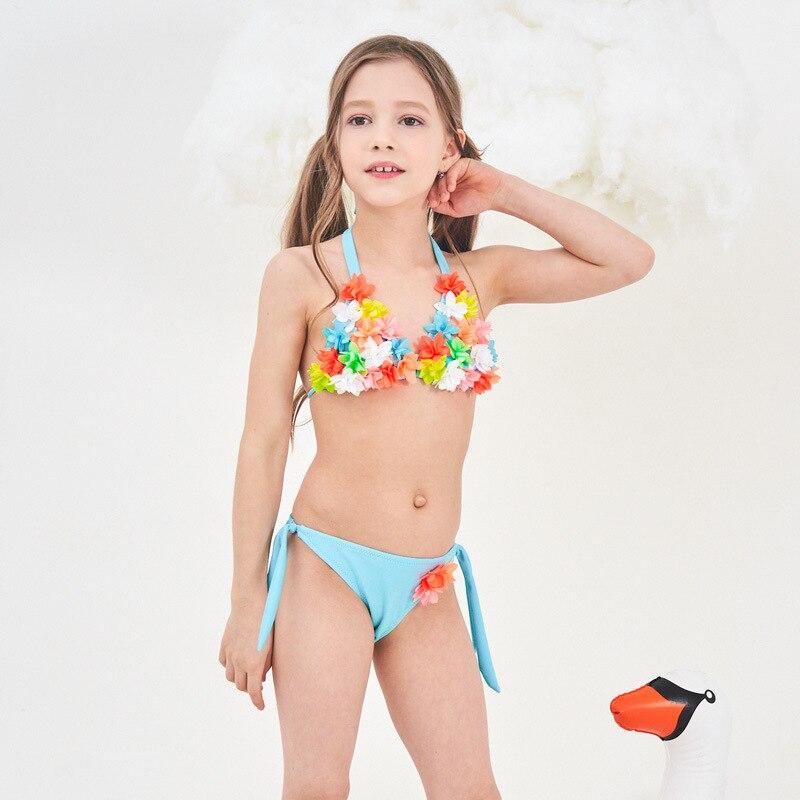 PA Yasen New Style KID'S Swimwear Fashion Cute Cartoon Bikini GIRL'S Swimsuit 1960