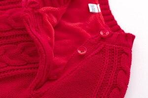 Image 4 - Śpioszki dla niemowląt dzianiny zimowe ciepłe noworodka Bebes kombinezony z długim rękawem stroje jednokolorowe niemowlę dziewczynki kombinezony dla dzieci chłopcy kostium