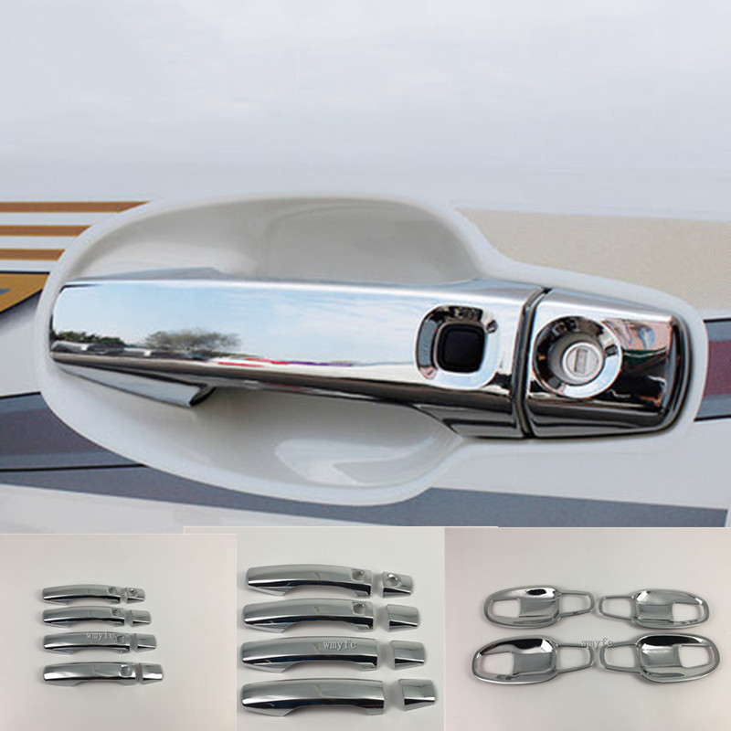 For Toyota Land cruiser LC200 08-15 Chrome Car Door Side Handle Bowl Cover Trims