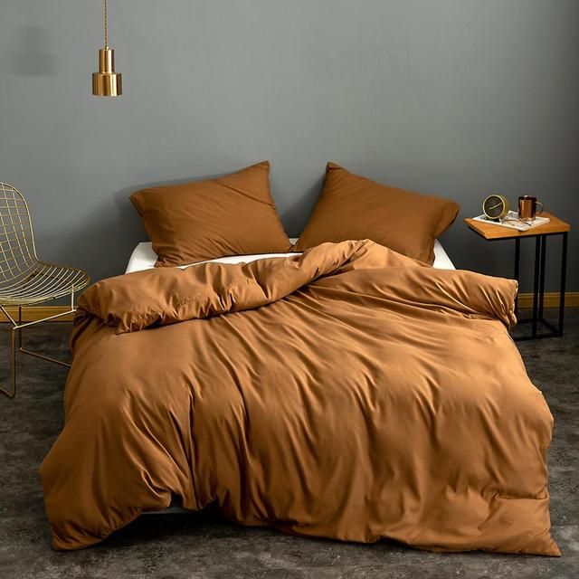Solid Super Soft Duvet Cover King Queen Full Twin Double Single European Bedding Set Comforter Cover For Home Hotel Bedding