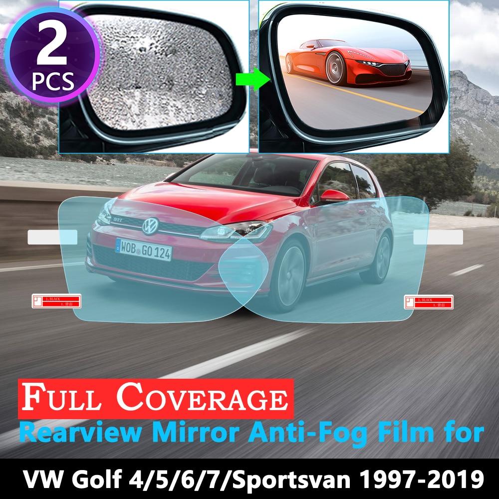 Full Cover Anti Fog Film For VW Golf 4 5 6 7 Sportsvan MK4 MK5 MK6 MK7 1J 1K 5K 5G 1997~2019 Rearview Mirror Rainproof Strickers