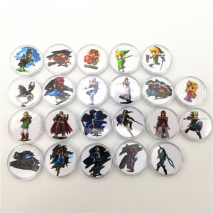 Image 1 - 24pcs/lot Zelda Game Collection Coin NFC Card 2019 New Data Setting NS Switch TAG For amiibo Mini Standard Card Ntag215 Tag