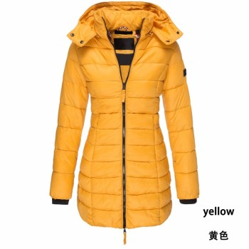 ZOGAA Women's Parkas Winter Jackets Coat Casual Slim Fit Cotton Padded Jacket Long Parka Women Wadded Warm Girl Hooded Overcoats