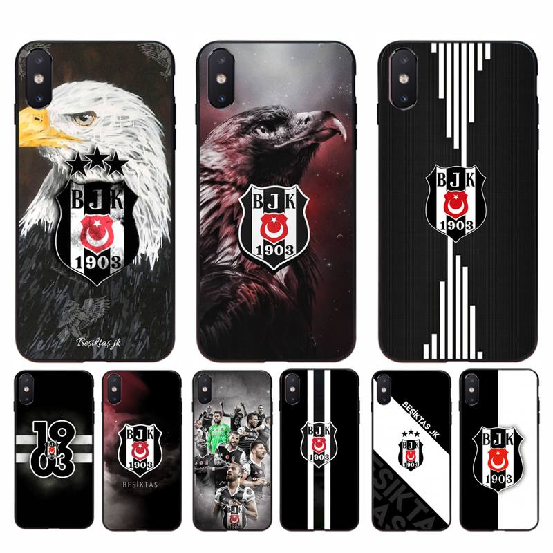 Yinuoda Turkey Besiktas BJK Bling Cute <font><b>Phone</b></font> <font><b>Case</b></font> for <font><b>iphone</b></font> 11 Pro Max X XS MAX 6 6s 7 8 plus 5 5S <font><b>5SE</b></font> XR SE2020 image