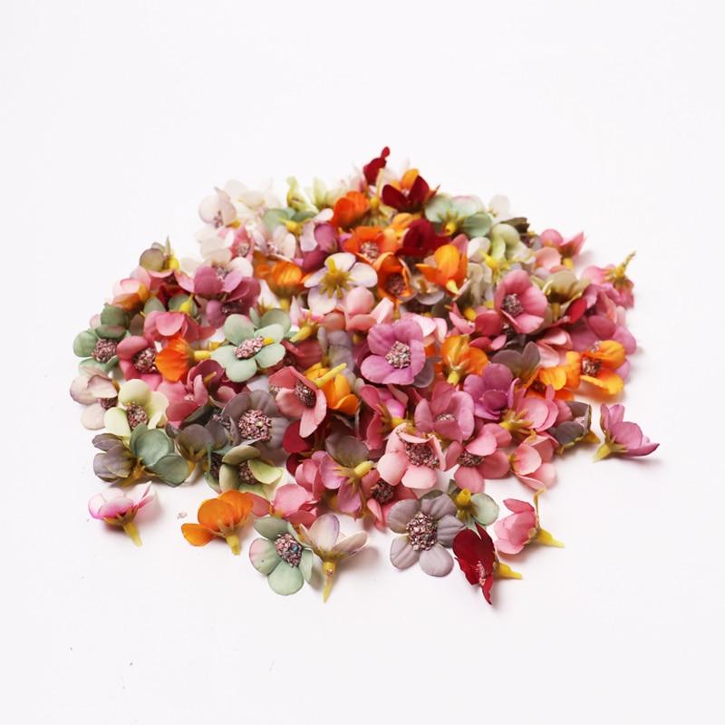 50/100pcs Multicolor Daisy Flower Head Mini Silk Artificial Flower For Wedding Engagement Party Home Decor DIY Garland Headdress