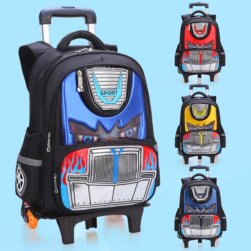 Young STUDENT'S BOY'S Trolley Bag Children 3-6 Grade Transformers BOY'S Sidecars Can Climbing Stairs Hand Drag