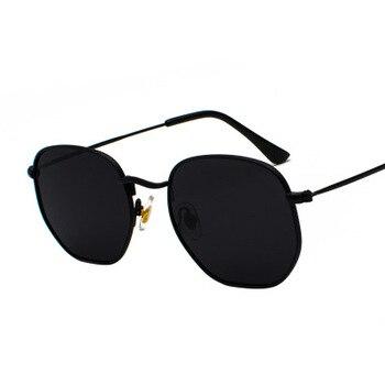 2020 Men Hexagon Sunglases Women Brand  Driving Shades Male Sunglasses For Men's Glasses Gafas De sol UV400 - Black Gray
