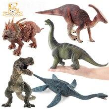 Dinosaur Tyrannosaurus Rex Parasaurolophus Spinosaurus Styracosaurus Plesiosaur Brachiosaurus Action Figure Toy Animal Figurines