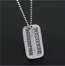 Women Men Jewelry Of Moive X-Men The Wolverines Logo Letters Cosplay Metal Pendant Necklace Accessory