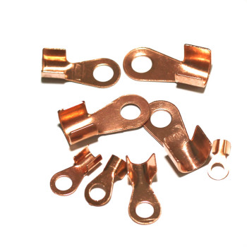 1PC brass car 100A / 400A copper wire ear nose 8 copper joint terminal battery pile head clamp wiring image