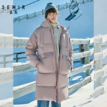 SEMIR 2021 Neue Kleidung Winter Unten Jacke Männer Business Lange Dicke Winter Mantel Männer Solide Mode Wasserdichte Lange Mantel Für mann