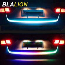 Luz de circulación diurna para coche, tira de luces LED RGB DRL para puerta trasera, señal de giro, Streamer, lámpara de advertencia estroboscópica de freno