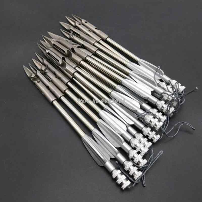 Lot de 3 ou 5 têtes larges en acier inoxydable, catapulte, fléchettes, chasse, tir, pêche, fronde, lot de 3 ou 5 pièces